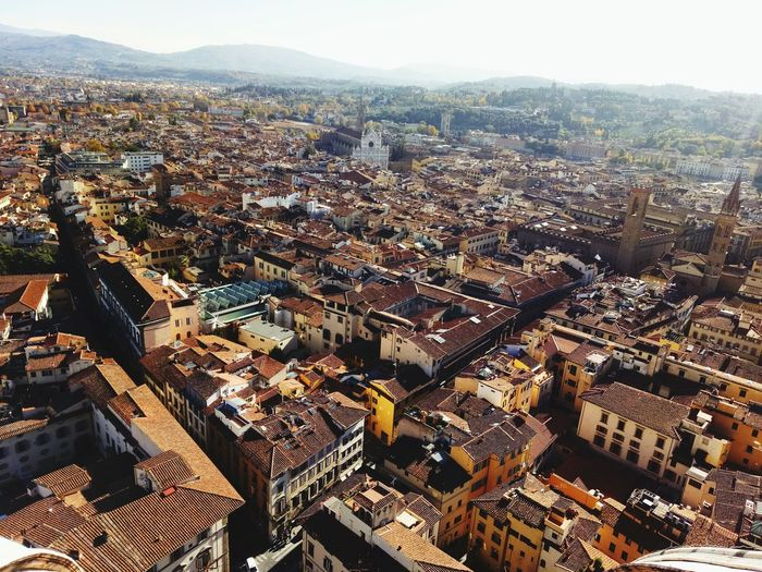 Florence, Italy EyeEm Selects Cityscape Architecture City Aerial View High Angle View Travel Destinations Outdoors Day Architecture Landscape Mountain Range Roof Built Structure