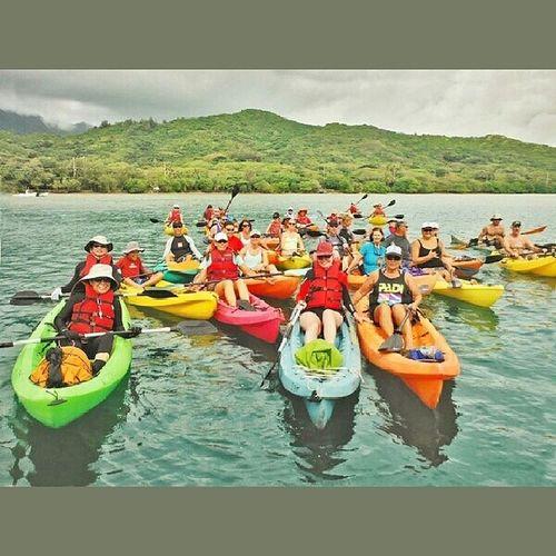Group pictures taken before we began paddling.... Latepost Kayakingtrip Paddling Lovingwhatido lifeisgood kayaking hawaiilife kayakingadventures tandemkayak 808 sundayfunday lovinglife