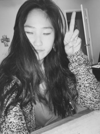 Long time no see😁 Blackandwhite Selfie? Typical Selca Korean