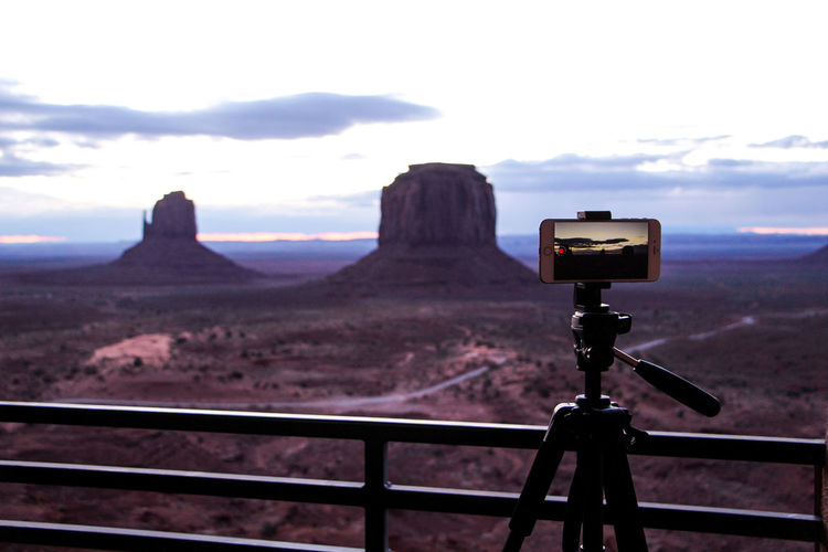 Sky Landscape Environment Cloud - Sky Mountain No People Tranquil Scene Scenics - Nature Nature Tranquility Beauty In Nature Day Land Technology Non-urban Scene Outdoors Railing Idyllic Field Photography Themes Digital Camera Arizona Sunsets Monument Valley Sunset_collection