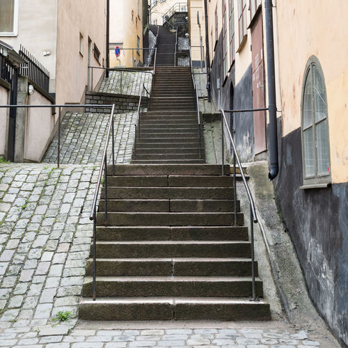 Architecture Built Structure City Climbing Diminishing Perspective Empty Escalating Moving Up Narrow No People Old City Old Town Staircase Stairs Steps Steps And Staircases Struggle The Only Way Is Up The Way Forward Uphill Vanishing Point Walkway