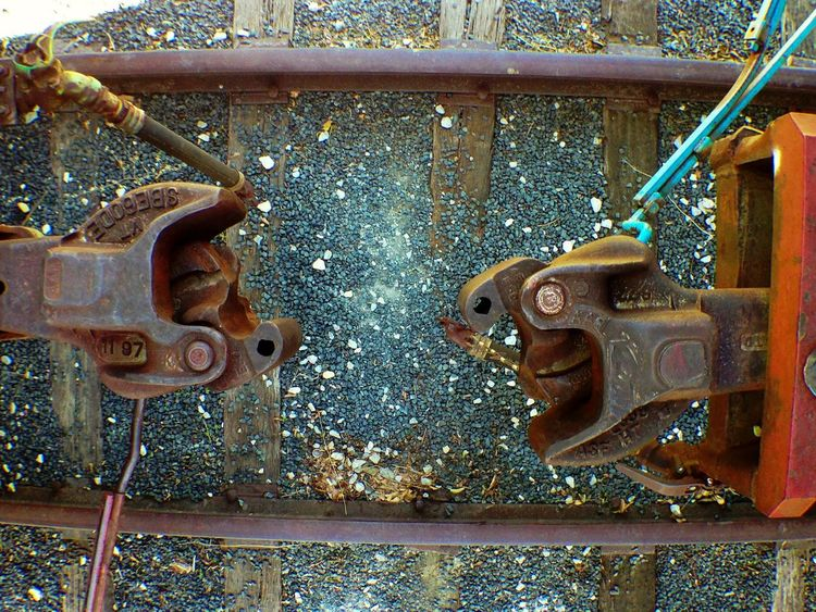 Between two Box Cars at a Train museum. Keller Texas
