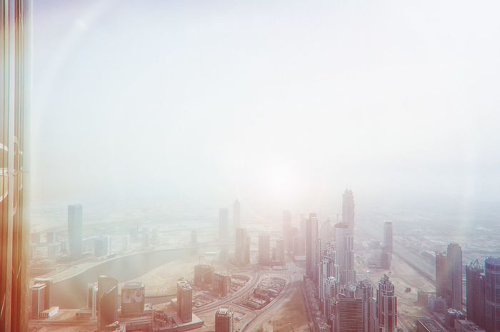 And here's the last shot the light changing over Dubai. I think this one might be my favorite. Dubai Cityscapes UAE Bright City Sun Sunspots Creative Light And Shadow