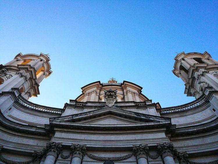 Roma, Piazza Navona Spettacular View Colori Architettura Meravigliosa Wintertime