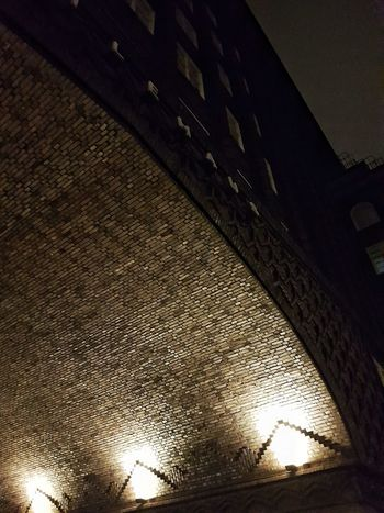 A close up of this amazing craft - brick building in Hamburg. Architecture Backstein Brick Building Built Structure Chilehaus Chilehaus Hamburg Close-up Illuminated Low Angle View Night No People
