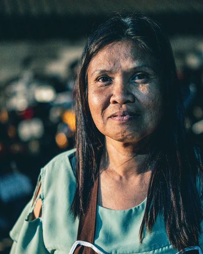 Motorbike Rental Lady Portrait Headshot Women One Person Front View Focus On Foreground Real People Lifestyles Hair Adult Females Mature Adult Hairstyle Looking At Camera Mature Women Human Face Beautiful Woman Lighting Wrinkled Wrinkles Mature Thai International Women's Day 2019