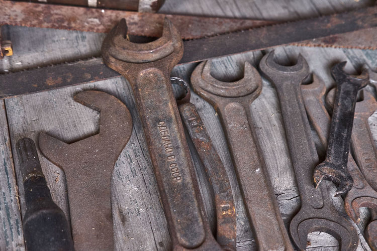 rusty wrenches,