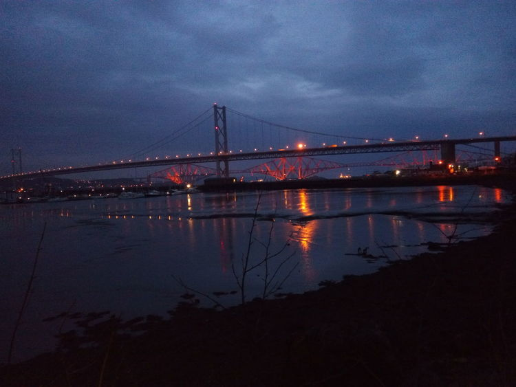 Hanging Out ForthRoadBridge  Nightshot Nightphotography Fife  ForthRailBridge 8thwonderoftheworld