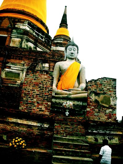 Religion Statue Spirituality Travel Destinations Architecture History Arts Culture And Entertainment Cityscape Outdoors King - Royal Person No People Day EyeEm Temple Make Merit Buddhism The Lord Buddha, Buddha Statue Thailand