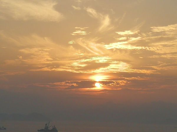 Water Sea Sunset Beach Sunlight Fog Wave Sun Summer Storm Cloud