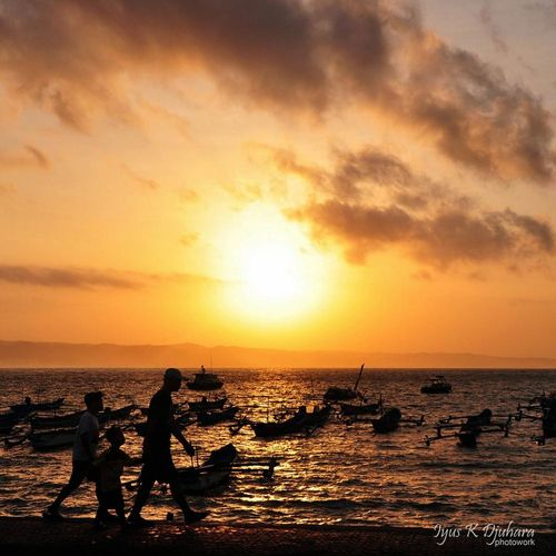 walk though the sunrise ... Sunrise_sunsets_aroundworld Pangandaran Silhouette Lanscape Photography