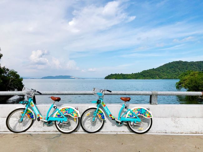 Cloud - Sky Transportation Sky Water Bicycle Mode Of Transportation Beauty In Nature