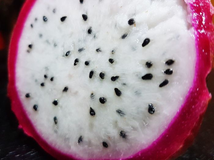Food And Drink Close-up Food Healthy Eating Indoors  Freshness Nature Dragon Fruit White With Seed Superb Pink Color Fantastic View Eating Healthy Food