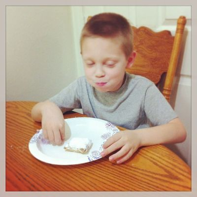 Elbow deep in powdered sugar...lol