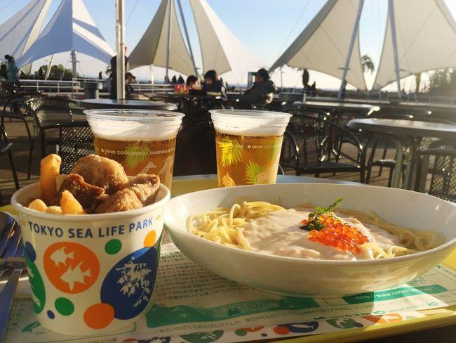 青空のしたでランチ Beer Lunch Weekend EyeEm Nature Lover Open Air Sunny Day Happy 水族館 Japan Tokyo