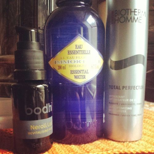 Early morning Skincare ft Bodhi  Loccitane Biotherm homme