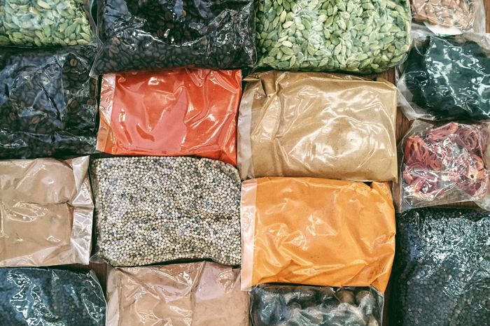 jaipur, india in rajasthan Ayurveda Background Bulk Cardamom Pods Choice Collection Coriander Seeds Food And Drink Freshness Full Frame Group Of Objects In A Row India Indulgence Medicine Ready-to-eat Retail  Spices Temptation Tray Turmeric  Variation