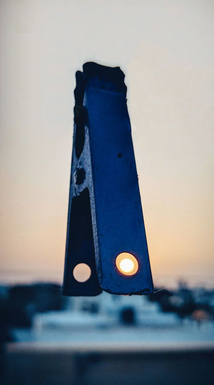 Through the hole Art Artistic Sunset Sun Focus On Foreground Blur