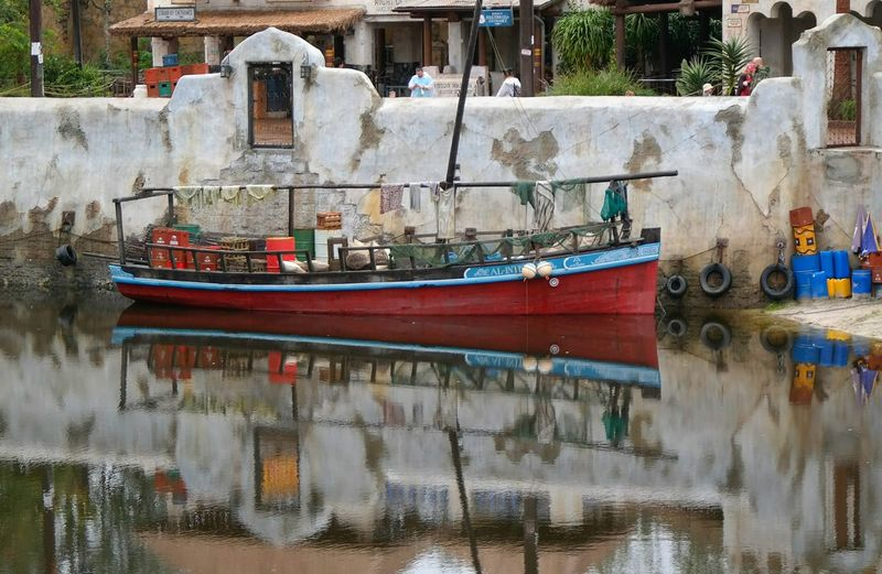 Boats in river