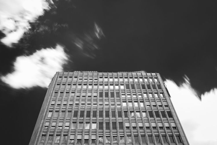NLB building Architecture B&w Building Exterior Built Structure City Cloudy Day Exposure Ljubljana Long Low Angle View Modern No People Office Building Outdoors Photography Sky Slovenia Tall