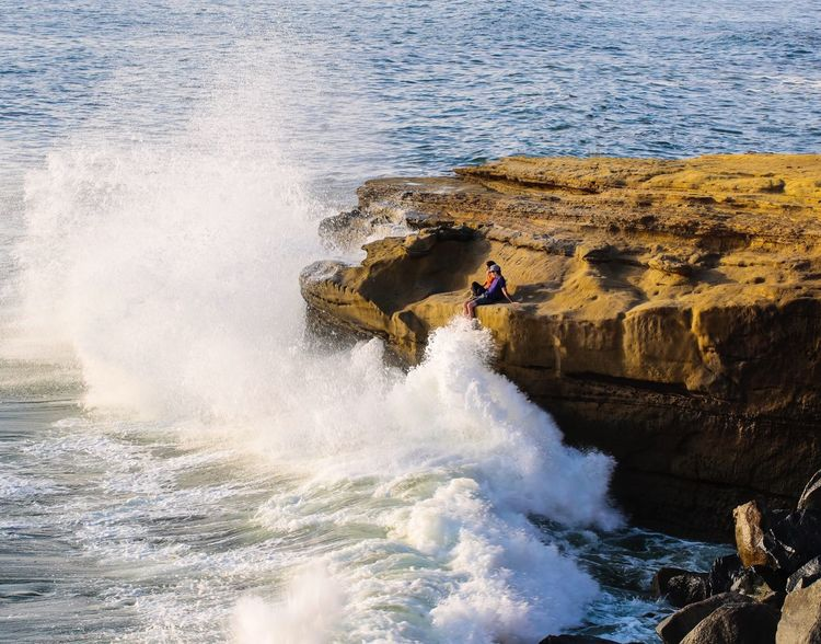 JGLowe Wet Surf Water Sea Motion Sport Real People Lifestyles Splashing Wave Leisure Activity Beauty In Nature Nature Rock Surfing Day Rock - Object Solid Beach Outdoors