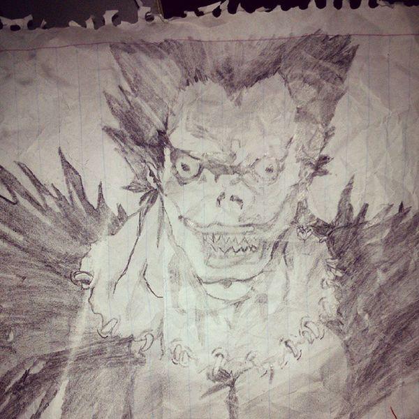 Así quiero dibujar. Algún dia. Ryuk DeathNote