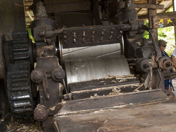 Cane Stripping Machine The River Antoine Rum Distillery Antigua sand, sun, palm trees and hammocks. the oldest functioning water-propelled distillery Sun, Palm Trees And Hammocks. Carribean Dirty Hurricane No People Oldest Functioning Water-propelled Spice Vacation St. Patrick  The River Antoine Rum Distillery Antigua Travel Vivid International