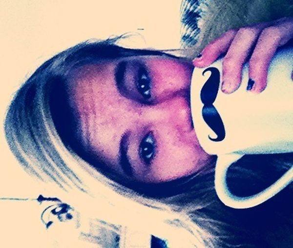 chillin with my mustache mug