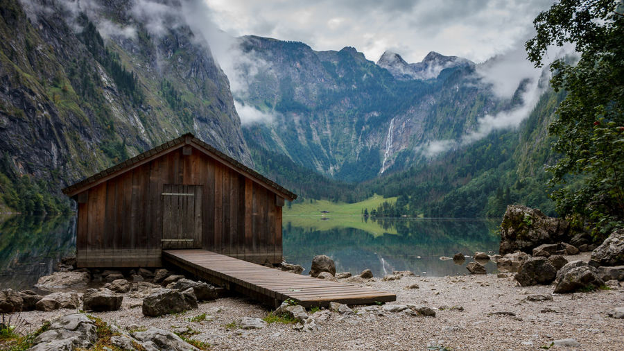 Cabin at the lake pt.2 Bavaria Bavarian Alps Bavarian Landscape Cabin Hintersee Königssee Alps Germany Water Reflection Stones Stones & Water Landscape Beauty In Nature Outdoors Idyllic No People Travel Destinations Day Non-urban Scene Environment Lake View Mountain Nature