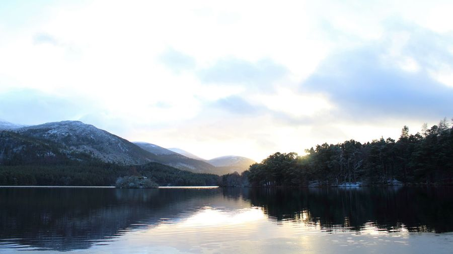 Castle Loch An Eilein Scotland Shades Of Winter Beauty In Nature Day Idyllic Lake Mountain Nature No People Outdoors Reflection Scenics Sky Tranquil Scene Tranquility Tree Water Waterfront