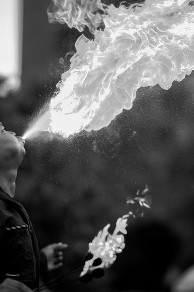 Sembur #bw #fire #human #humaninterest Black And White Blackandwhite People