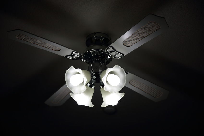 Ceiling Ceiling Fan Close-up Day Electric Fan Electricity  Hanging Home Interior Illuminated Indoors  Lighting Equipment Low Angle View No People Technology