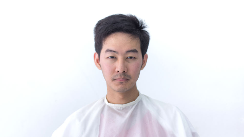 After Hair cut Adult Adults Only Asian  Barber Barbershop Close-up Day Fashion Front View Hair Hairstyle Handsome Looking At Camera Men One Man Only One Person Only Men People Portrait Portraits Scientist Shorthair Studio Shot Thai White Background