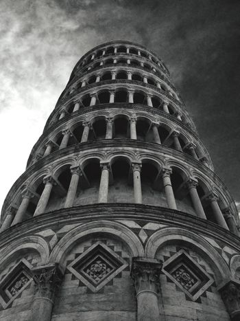 Leaning Tower Of Pisa View From Below Tall - High Italy Pisa Tower Blackandwhite Monochrome Photography