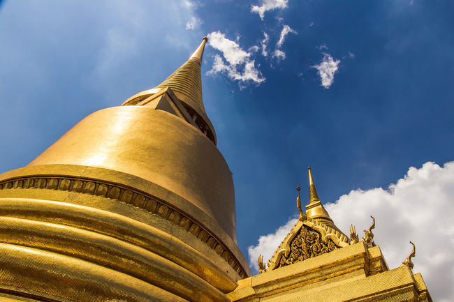 Grand Palace or Wat Phra Kaeo is amazing temple in Thailand Amazing; Ancient; Architecture Architecture; Art; Asia; Bangkok; Buddha; Culture; Day Decoration; Emerald; Exterior; Famous; No People Outdoors Place Of Worship Religion Sky Temple; Thai Art; Thailand Traditional; Travel; Unseen;