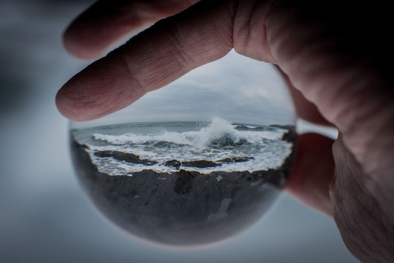 Wild waters in your hand Atlantic Ocean Wild Atlantic Way Inchydoney Island Ronny Ron Ocean View Human Body Part Hand One Person Human Hand Holding Close-up Body Part Nature Sea Finger Lifestyles Sky
