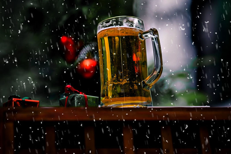 beer glass with