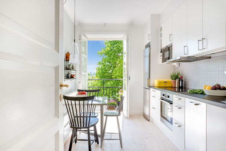 Swedish interior design. Absence Architecture Balcony View Day Design Domestic Room Empty EyeEm Best Shots Home Home Interior IKEA Interior Interior Design Interior Photography Interior Views Kitchen Kitchen Table Niklasskur No People Popular Photos Still Life StillLifePhotography Stockholm The Way Forward White