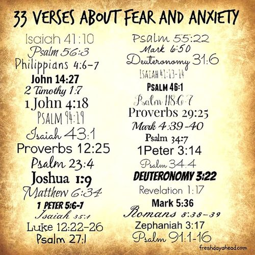 God Does Bless😇 Growing Gifts From God God's Word The Bible The Bible Verses From The Bible 33 Verses About Fear & Anxiety Student Education Learning Information Knowledge