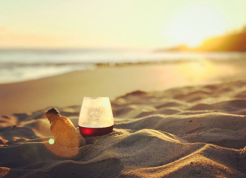 Coffee on the beach Black Coffee Morningcoffee Coffee Time ıced Coffee Colddrip Australia Fingal Head Sunrise Beach Land Sand Sea Water Nature Focus On Foreground Sky Beauty In Nature Sunlight Scenics - Nature No People Outdoors Wave Tranquility Tranquil Scene