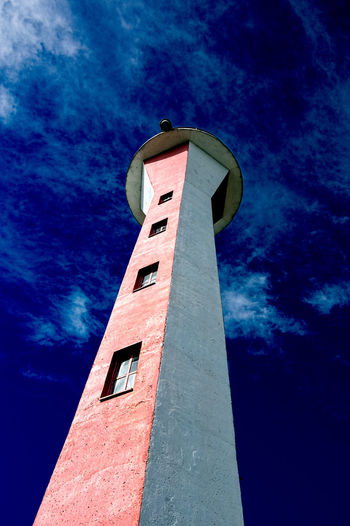 Applecore Architecture Blue Building Exterior Built Structure Cloud Cloud - Sky Cloudy Day High Section Lighthouse Low Angle View No People Outdoors Sky Tall Tall - High Tower