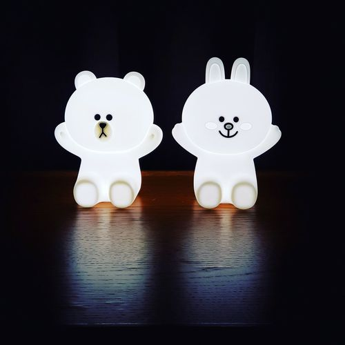 line friends Linefriends Brown Cony Rabbit Lamp Lamplight Glowinthedark Glow In The Dark Light Light Close-up Bear
