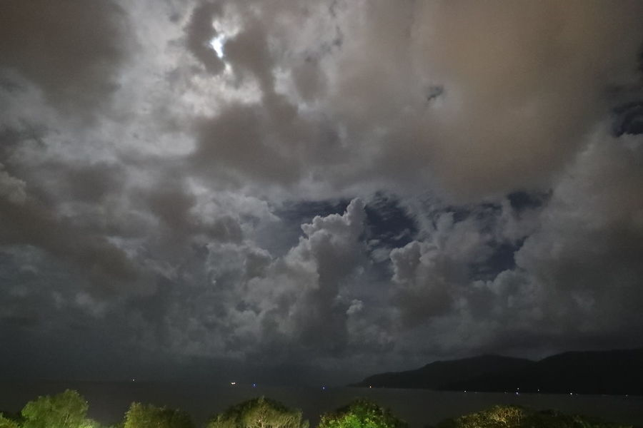 Bright Night Cloud - Sky Dramatic Sky Full Moon Behind Clouds Landscape Nature Night No People Outdoors Scenics Sky Weather