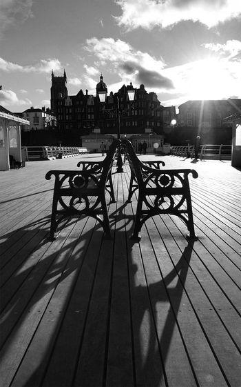 Cromer Pier Shadows Cromer Pier Cromer Norfolk Uk Seaside Pier Pier British Pier Shadows Architecture EyeEmNewHere Seaside Town Seaside Blackandwhite Photography Monochrome Photography