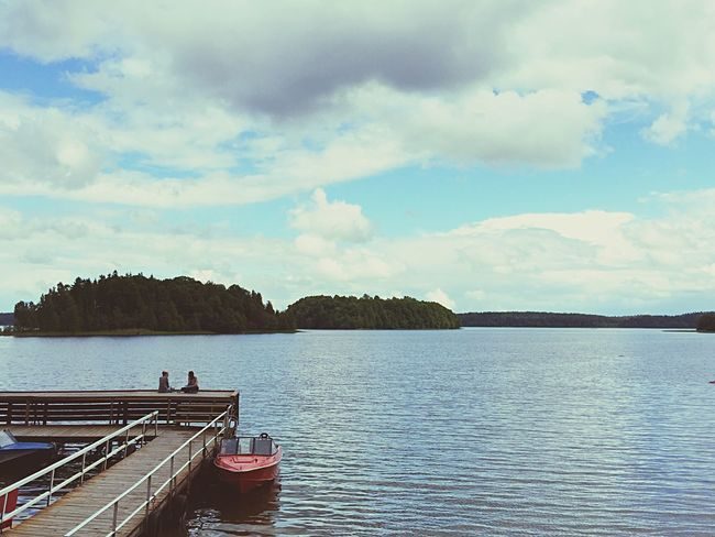 Lake Lake View Relaxing Clear Sky Water Panoramic Lakeview Lithuania Lakeside