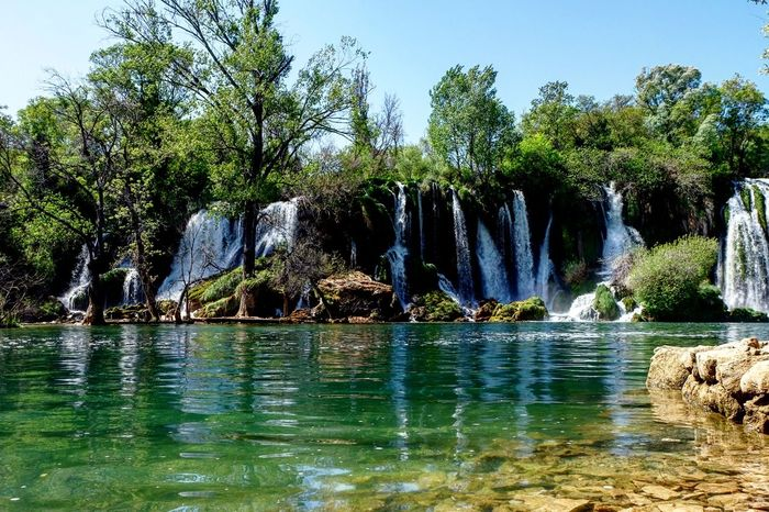 Waterfall Nature Beauty In Nature Water Forest Scenics Kravice Bosnia And Herzegovina Mostar Outdoors Day Sky Vacations Tree No People