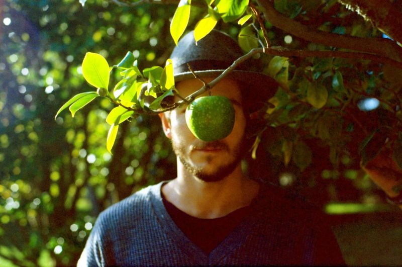 Analog Apple Green Hat Leaves Magritte My Favorite Photo Nature Sunny The Portraitist - 2016 EyeEm Awards The Son Of Man Tree Young Man Fine Art Photography