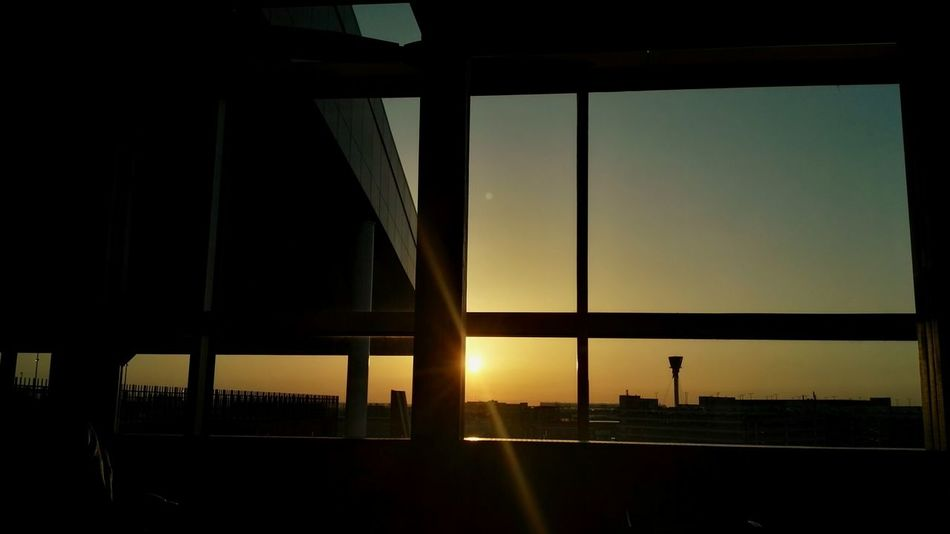 Airport Heatrow London Sunset Architecture Window Built Structure Traveling EyeEm LOST IN London The Architect - 2018 EyeEm Awards