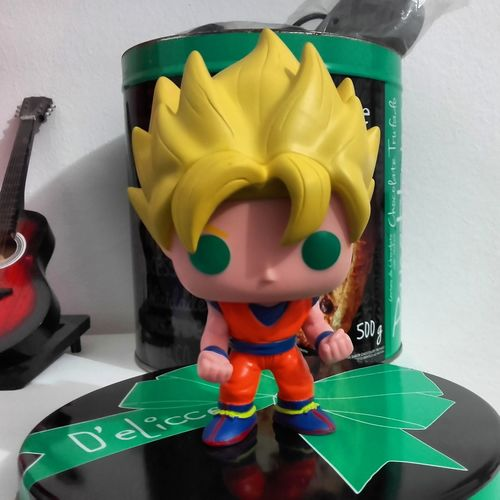 Pop Funkopop Funko Dragon Ball Dragon Ball Z saiyaPapercraft Nintendo Big Head Goku Goku Boneco Boneco Vinil Figuras Actionfigures