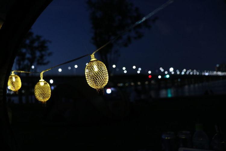 Light, Nightphotography Car Light Lake Night Tent Water Water Fountain Waterfront